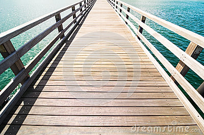 Wooden Jetty Stock Photo - Image: 28350970