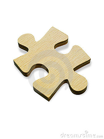 Wooden jigsaw piece