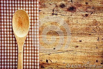 Wooden kitchen spoon