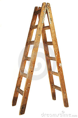 Free Wooden Ladder Stock Image - 13359841