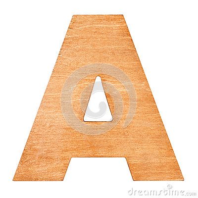 Free Wooden Letter A Stock Images - 84732584