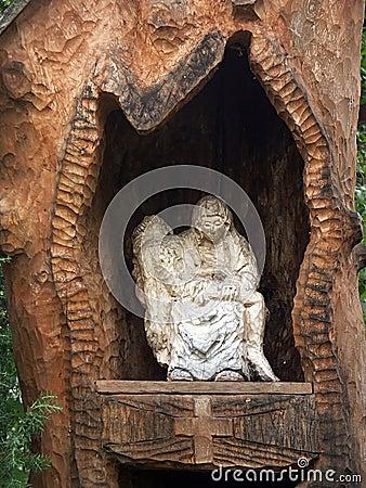 Wooden little shrine