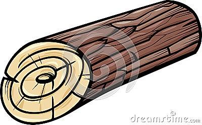 Wooden log or stump cartoon clip art