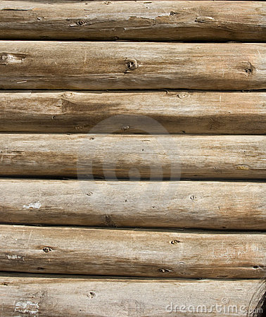 Free Wooden Logs Wall Stock Photography - 12265472