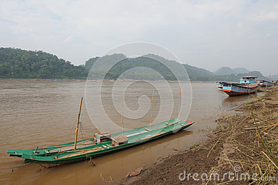 Landscape at Mekong river, Laos.