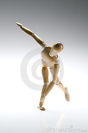 Free Wooden Mannequin Twist Royalty Free Stock Photo - 10307995