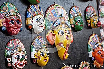 Wooden Masks, Bhaktapur, Nepal