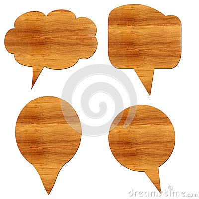 Wooden massage  icons.