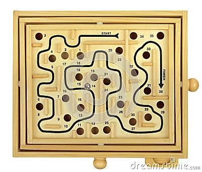 Wooden Maze Game