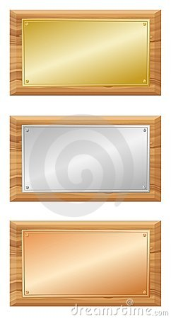 Wooden and metal boards