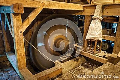 Wooden mill inside
