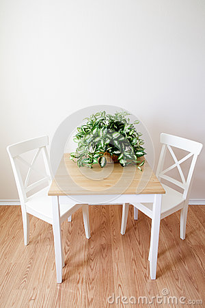 Free Wooden Modern Dinning Room Table And Chairs Royalty Free Stock Photos - 48009118