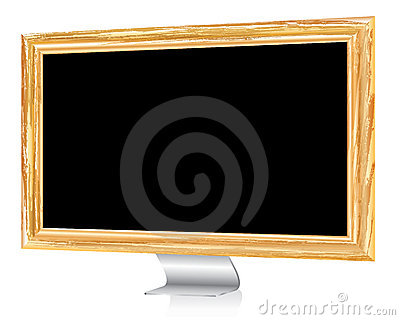 Wooden monitor