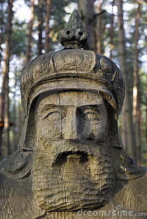 Wooden Monument Of King Stock Image - Image: 15142911