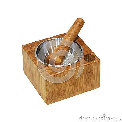 Wooden mortar