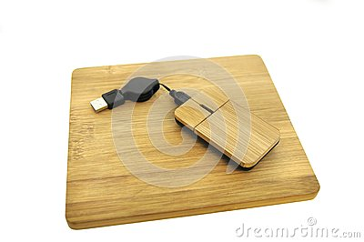 Wooden Mouse And Mousepad