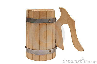 Wooden mug for beer