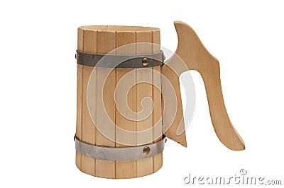 Wooden mug for beer