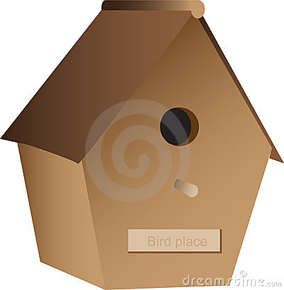 Wooden nest box