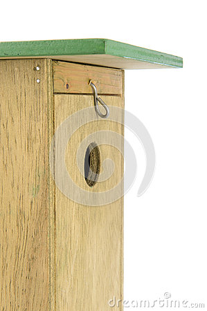 Wooden nesting box in closeup