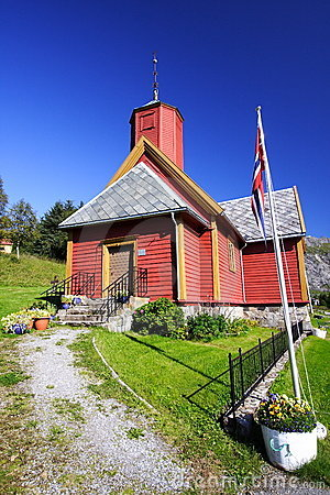 Wooden Norwegian church