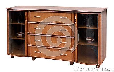 Wooden old stile bureau