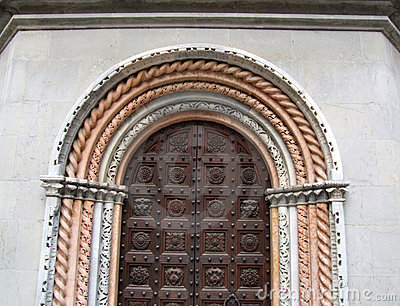 Wooden ornate baroque gate