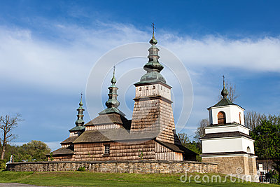 Wooden Orthodox church in Owczary, Poland