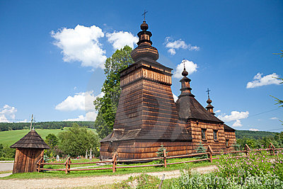 Wooden Orthodox Church in Skwirtne, Poland