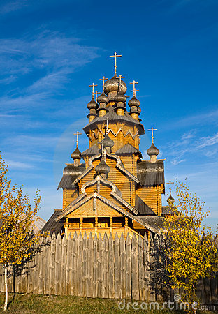 Wooden orthodox monastery, Ukraine