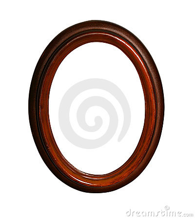 Free Wooden Oval Frame With Path Stock Photos - 362413