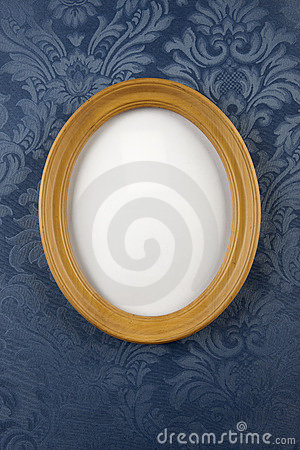 Wooden oval wall frame
