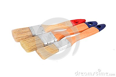 Wooden paint brush