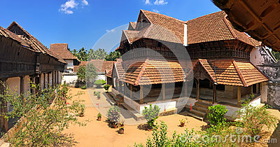 Wooden palace Padmanabhapuram of the maharaja in Trivandrum