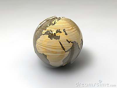 Wooden paperweight