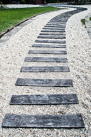 Wooden path walkway