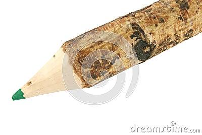 A wooden pencil