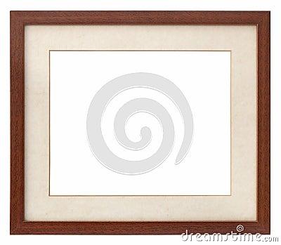 Wooden photo frame passepartout