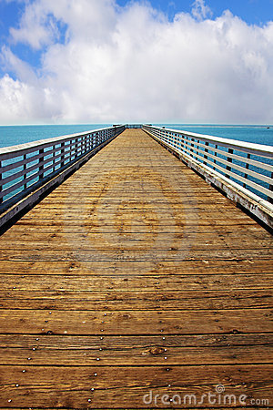 Wooden pier at Pacific coast