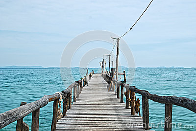 Wooden pier on the sea HDR