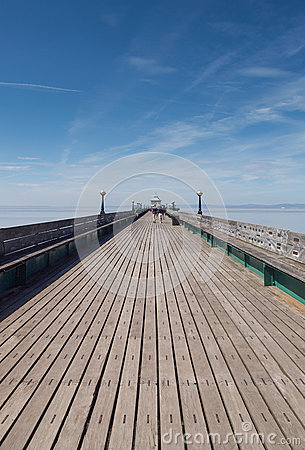 Wooden Pier Walkway, Clevedon. Editorial Photo