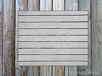 Wooden pinboard