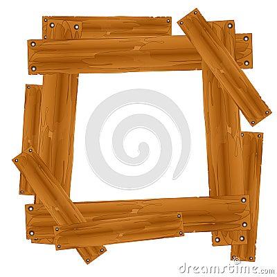 Free Wooden Plank Frame Border Royalty Free Stock Photos - 5508728