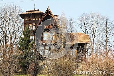 Wooden Polish House Stock Photo - Image: 40053297