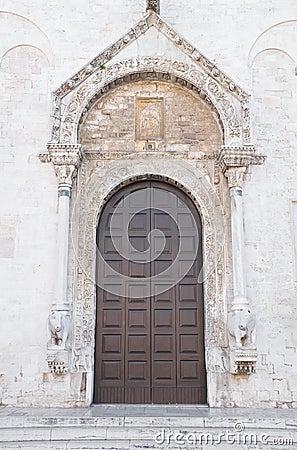 Wooden Portal of Basilica St. Nicholas. Bari. Apul