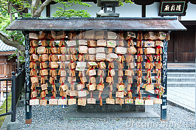Wooden prayer tablets