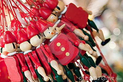 Wooden puppet souvenirs