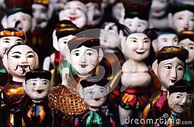 Wooden puppets, Hanoi, Vietnam