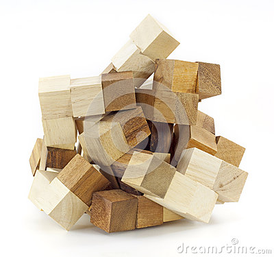 Free Wooden Puzzle Block Game Stock Images - 25997954