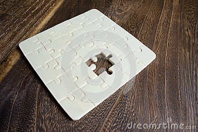 Wooden Puzzle with missing piece